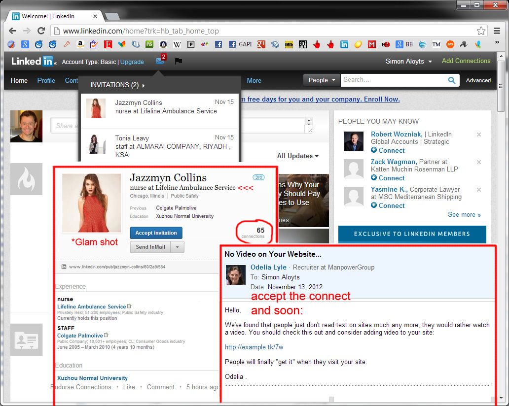 how to know a contact person on linkedin